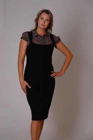 Сарафан черного цвета 50 размера.