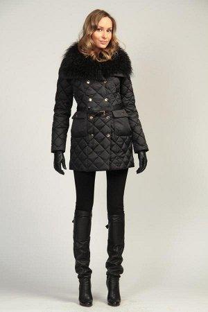 Пальто с воротником ламы