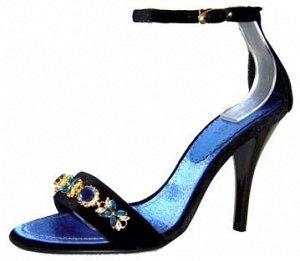 Очень красивые синие босоножки из распродажи
