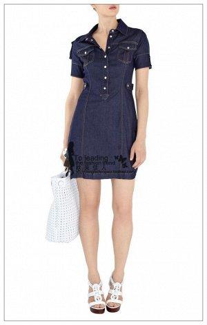 Платье джинсовое синее