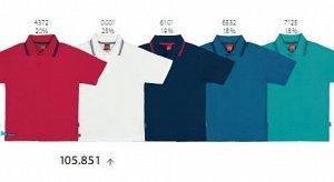 Рубашка-поло красного цвета на мальчика ростом 152-158 см