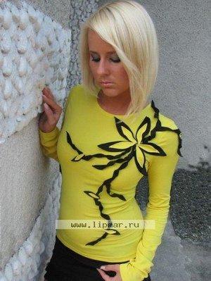 Блузка фуксия уникальный дизайн 52