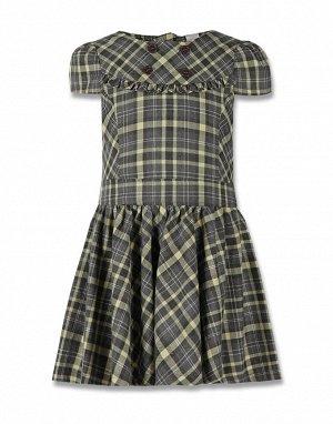 Платье в клетку с короткими рукавами
