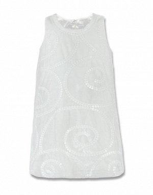 Молочное платье с пайетками