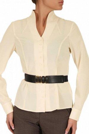 Блузка со стойкой шелк 54р
