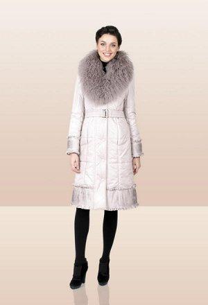 пальто утепленное, мех ламы