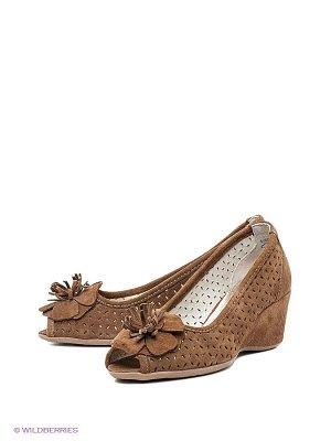 Туфли  Такко замшевые светло-коричневые на 24 -24,5 см стопу