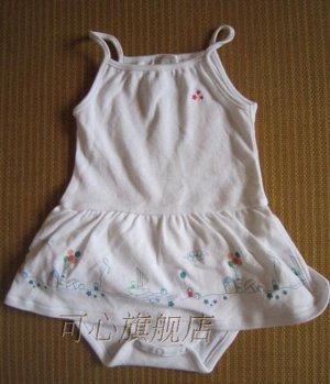 Боди-платьице с рисунком по низу юбки