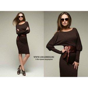 Платье с атласным поясом XS-S. Дешевле СП