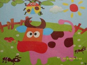 Корова Размер 21,5*19,5 см.