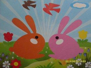 Кролики Размер 21,5*19,5 см.