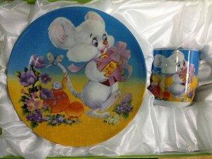 Набор детской посуды 3 предмета