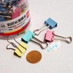Зажим для бумаги металлический маленький 19 мм