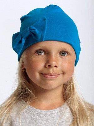 Шапка детская яркая синяя