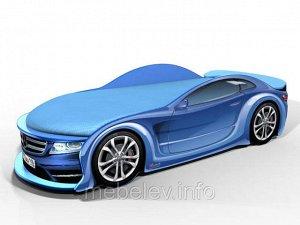 Кровать машина Мерс синий