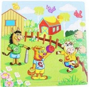 Животные Деревянные пазлы для тех, кто постарше (с 4-х лет), большие квадратные!!! 30*30 см; 36 деталей (размер одной детали 4,5х5,5 см).
