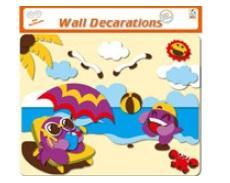 На пляже Размер 28*22 см. Аппликация - украшение на стену. Основа EVA материал. Фото в интерьере на доп. фото.
