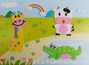 Жираф , корова и крокодил