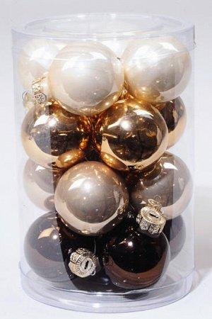 Набор стеклянных шаров (35мм, 16шт)