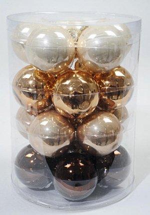 Набор стеклянных шаров (60мм, 20шт)