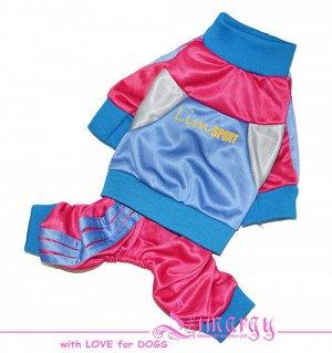 """Спортивный комбинезон """"Color"""" розовый для собаки-девочки, р. М, состояние идеальное новой вещи"""