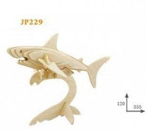 Акула Размер на фото. Без красок.