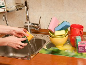 "PATERRA Набор губок для посуды ""Aktiv"" 6,5х9,5см, 5шт.  406-001"