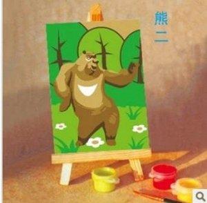 Медведь Размер 10*15 см; деревянный мольберт. !!!Краски в наборе могут быть, увы, подсохшими в большей или меньшей степени. Что делать? Можно использовать свои или такие универсальные акриловые краски