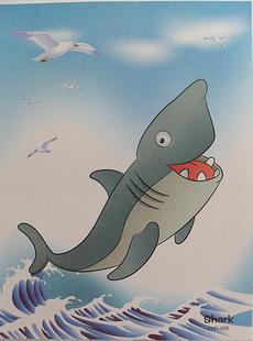 Акула Размер 23*17 см.