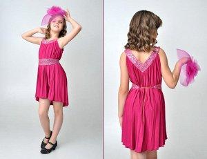 Классное платьеце на девочку 128/134