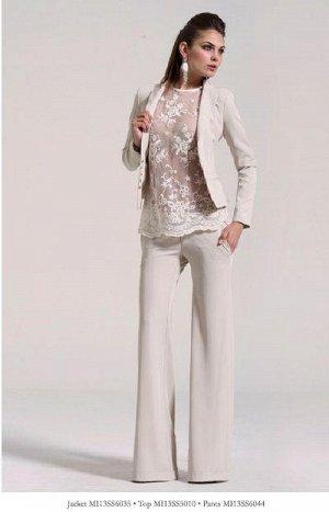Шикарные итальянские белые брюки на 44-46 р-р
