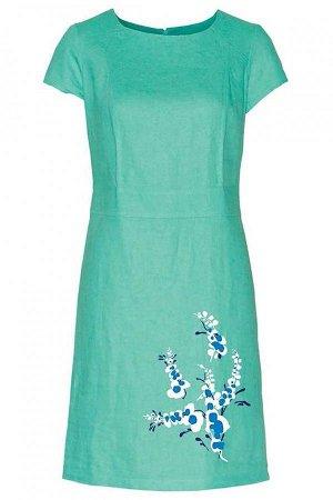 Летнее платье, цвет коралл! На 48 р-р. Есть реальное фото