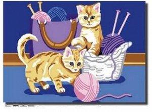 Котята с клубками