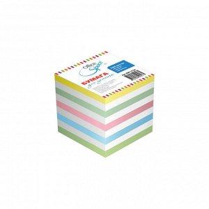 Блок для записи на склейке OfficeSpace, 9*9*9см, цветной