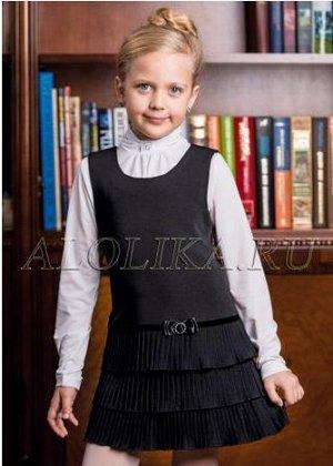 Сарафан школьный черный, реальное фото