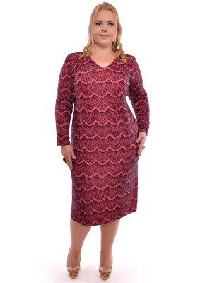 Трикотажное платье на 60-62 р. рост 164