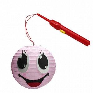 """Набор для создания фонарика с подсветкой """"Смайлик розовый"""""""