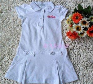 Трикотажное платье в спортивном стиле белое