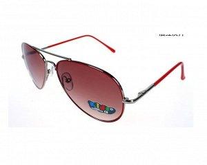 Солнцезащитные очки детские в тонкой бордовой оправе