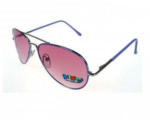 Солнцезащитные очки детские в тонкой синей оправе