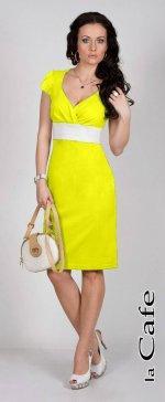 Платье желтого цвета как на фото