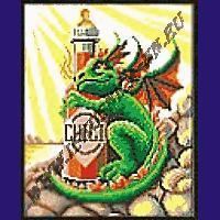 Канва с нанесенным рисунком Дракон с перцем, 25*30см, Искусница