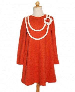 Новое Теплое оранжевое 40274 платье-туника, на 44-46 р. (размер 14 л на этикетке)