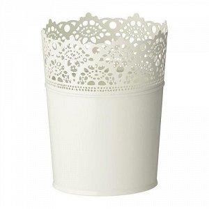 СКУРАР Кашпо, цвет белый Размер: для горшка 10.5 см , 3 шт