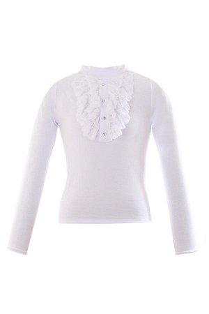 Школьная блузка белая (Турция) качественный трикотаж
