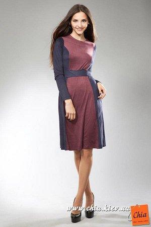 Платье чернично/синий/сливовый
