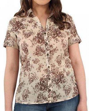 Легкая блузка, бежевая, хлопок 100%