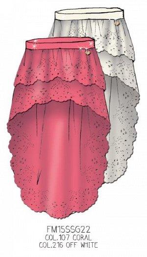 Юбка летняя коралл -Fracomina Италия, с хорошей скидкой р.40-46 (резинка)