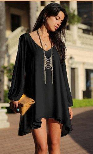 платье шифоновое черного цвета