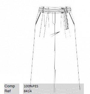 Молочные юбка-брюки 3/4, на 42 размер